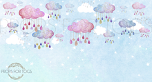 beautiful colourful photographers backdrop, with clouds and sparkle