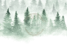 a gorgeous handpainted watercolour snow scene perfect for xmas photoshoots..photographers backdrop.