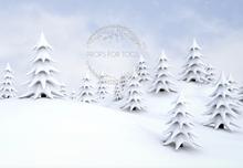 a fun white winters  photography backdrop