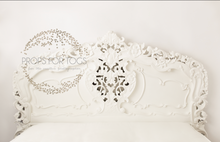 Honey pie designs Stunning white wooden headboard
