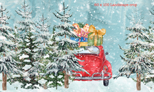 "cute hand drawn xmas scene - this is the 60"" x 100"" Landscape crop"