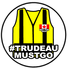Trudeau Must Go Yellow Vest Oil Decal Sticker