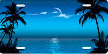 Blue Palms Beach Scenic Auto Plate sku T2052B