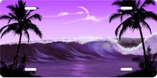 Purple Wave Palms Scenic Auto Plate sku T2102K