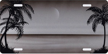 Silver Palms Beach Scenic Auto Plate sku T2025CZ