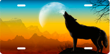 Howling Wolf on Full Color Offset Auto Plate sku T9166D