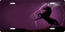 Lightning Horse on Purple Ringer Offset Auto plate sku 9122K