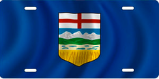 Flag of Alberta Auto Plate sku T2912F1