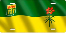 Saskatchewan Flag Auto Plate sku T2913F