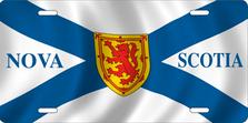 Nova Scotia Flag Auto Plate sku T2926FA