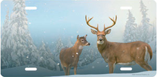 Winter Deer Auto Plate sku T2225I