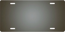 Gray Ringer Brushed Metal Auto Plate sku TB2840C