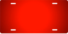 Red Ringer Brushed Metal Auto Plate sku TB2840A