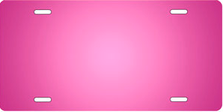 Pink Ringer Brushed Metal Auto Plate sku TB2840R