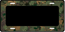 Camo Border on Black Auto Plate sku T2841GZ