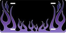 Purple Classic Flames Auto Plate sku T2740K