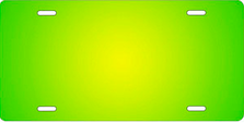 Yellow and Green Ringer Auto Plate sku T2840YG