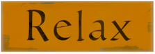 Relax Wood Sign sku WS410