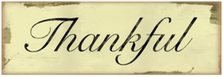 Thankful Wood Sign sku WS406