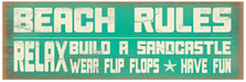 Beach Rules Wood Sign sku WS704