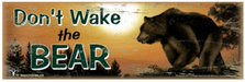 Don't Wake The Bear Wood Sign sku WS3139