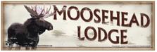 Moosehead Lodge Wood Sign sku WS2232