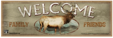 Elk Welcome Wood Sign sku WS2227