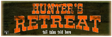 Hunter's Retreat Wood Sign sku WS1204
