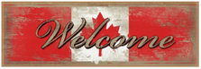 Canadian Welcome Wood Sign sku WS2925