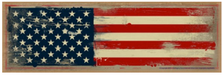 American Flag Wood Sign sku WS9296