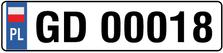 Poland Euro Plate