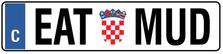 Croatia Euro Plate
