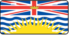 British Columbia Prov Flag Plate