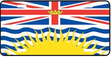 British Columbia Prov Flag Plate