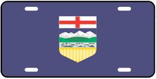 Alberta Prov Flag Plate