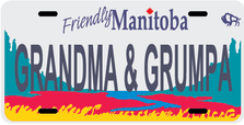 Manitoba Prov Flag Plate
