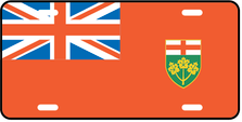 Ontario Prov Flag Plate