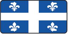 Quebec Prov Flag Plate