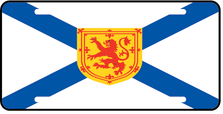 Nova Scotia Prov Flag Plate