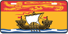 New Brunswick Prov Flag Plate