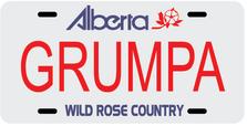 Alberta Prov Plate