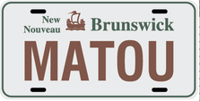 New Brunswick Prov Plate