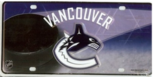 Vancouver Cannucks Metal License Plate