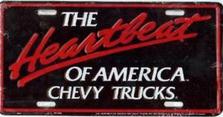 Chev Trucks iHeartbeat Auto Plate