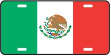 Mexico World Flag Auto Plate