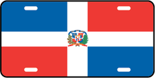Dominican Rep World Flag Auto Plate