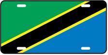 Tanzania World Flag Auto Plate