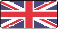 United Kingdom World Flag Auto Plate