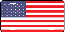 United States World Flag Auto Plate