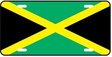 Jamaica World Flag Auto Plate
